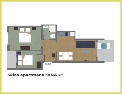SKICA apartmana ANA 2