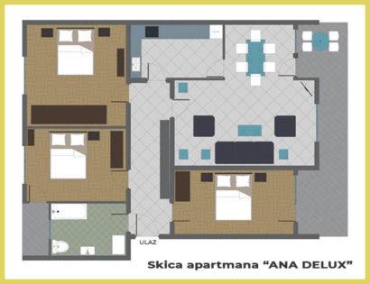 SKICA apartmana ANA DELUX